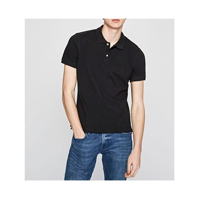 Pepe Jeans London VINCENT POLO MANICHE CORTE NERO