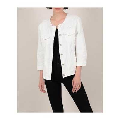 Molly Bracken GIACCA IN JEANS BIANCO