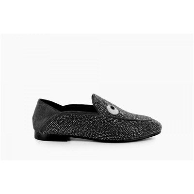 Lola Cruz MOCASSINS NOIR Chaussure France_v14467
