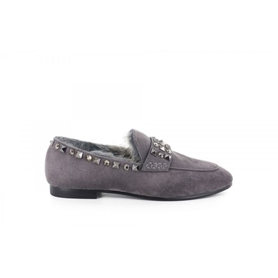 Lola Cruz MOCASSINS GRIS Chaussure France_v14465