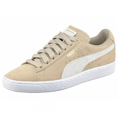 Puma SUEDE CLASSIC+ SNEAKERS EN CUIR TAUPE Chaussure France_v3532