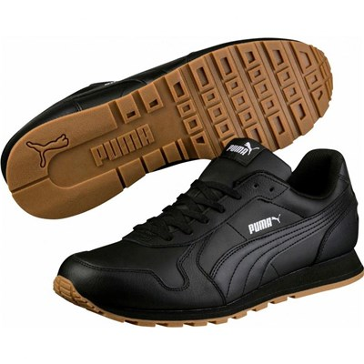 Puma ST RUNNER FULL BASKETS RUNNING EN CUIR NOIR Chaussure France_v1615