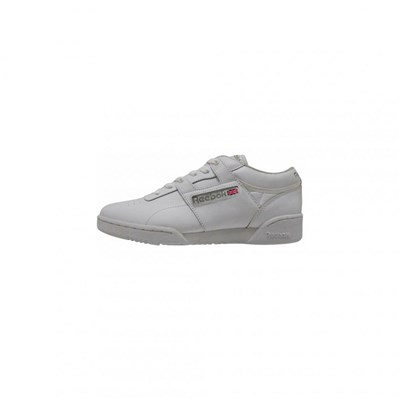 Reebok WORKOUT LOW SNEAKERS EN CUIR SOUPLE BLANC