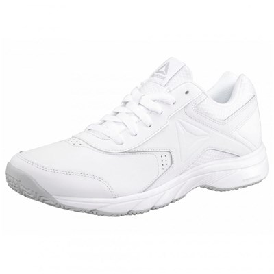Reebok WORK'N CUSHION 3.0 BASKETS BASSES EN CUIR BI-MATIÈRE BLANC