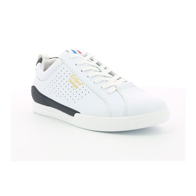 Kickers TAMPA SNEAKERS EN CUIR DE VACHE BLANC Chaussure France_v6078