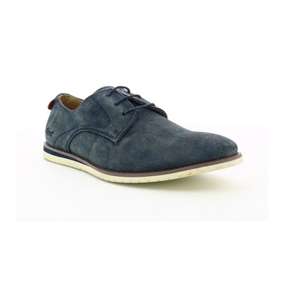 Kickers TUMP DERBIES EN CUIR BLEU MARINE Chaussure France_v6079