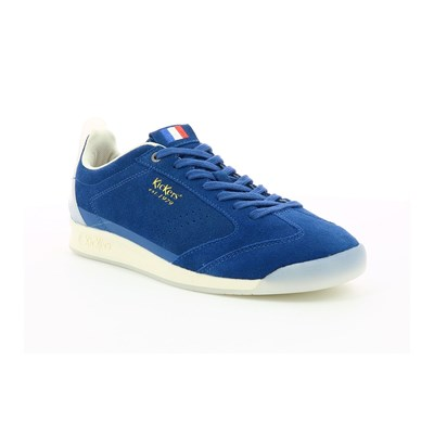 Kickers KICK 18 SNEAKERS IN PELLE SCAMOSCIATA BLU