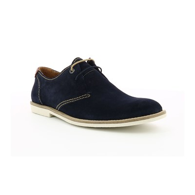 Kickers BACHELOR DERBIES EN CUIR DE VACHE BLEU MARINE Chaussure France_v10171