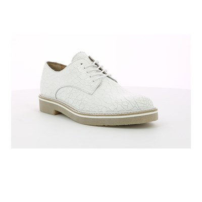 Kickers OXFORD DERBIES EN CUIR DE VACHETTE BLANC Chaussure France_v10173