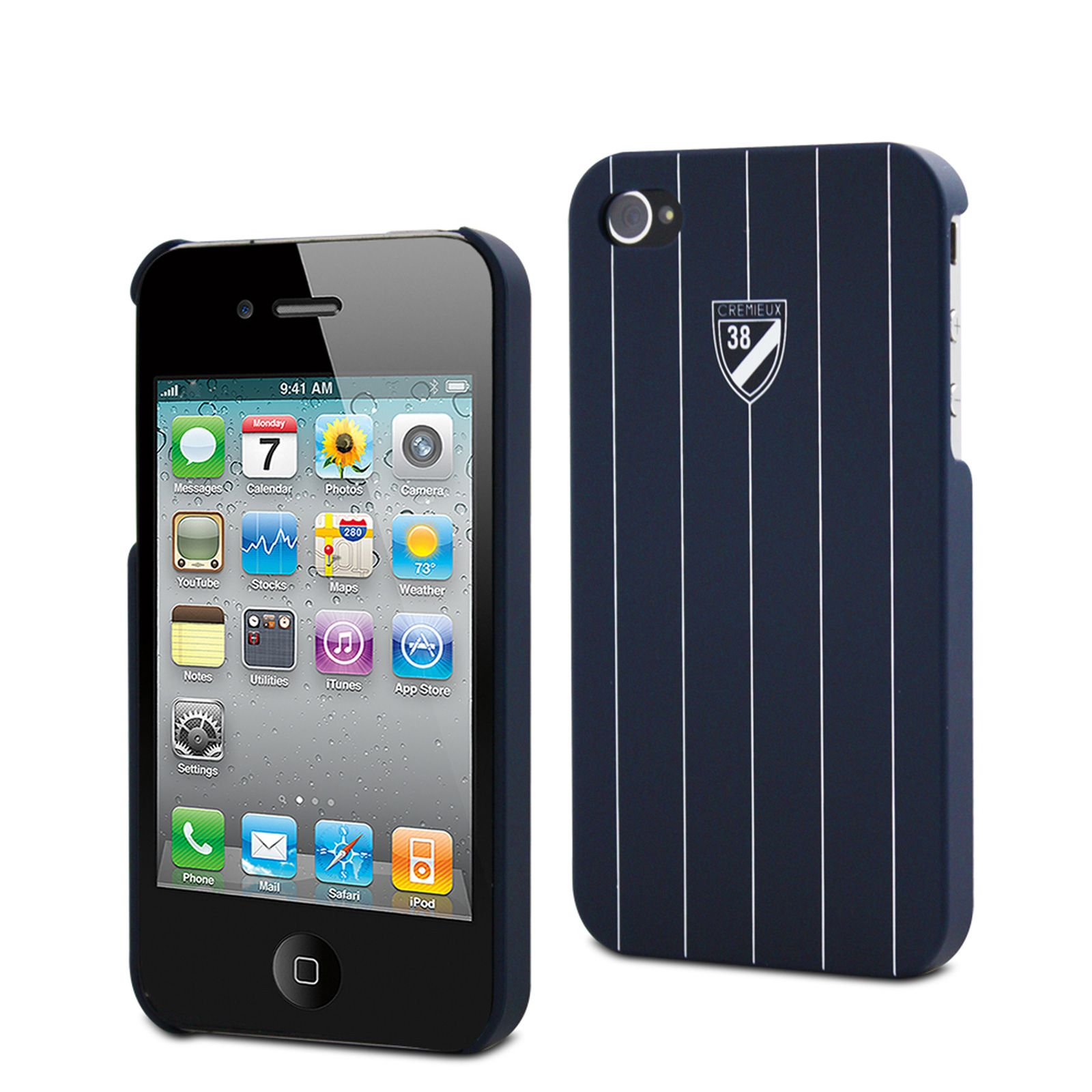 cremieux coque rigide iphone 4 4s bleu marine brandalley. Black Bedroom Furniture Sets. Home Design Ideas