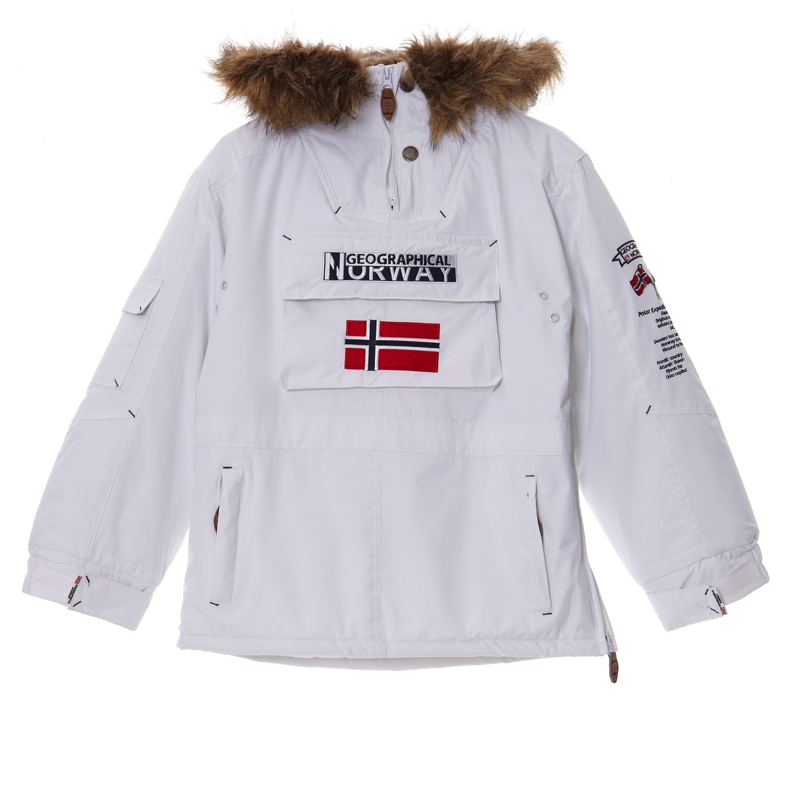 GEOGRAPHICAL NORWAY Building , Parka à enfiler , blanc