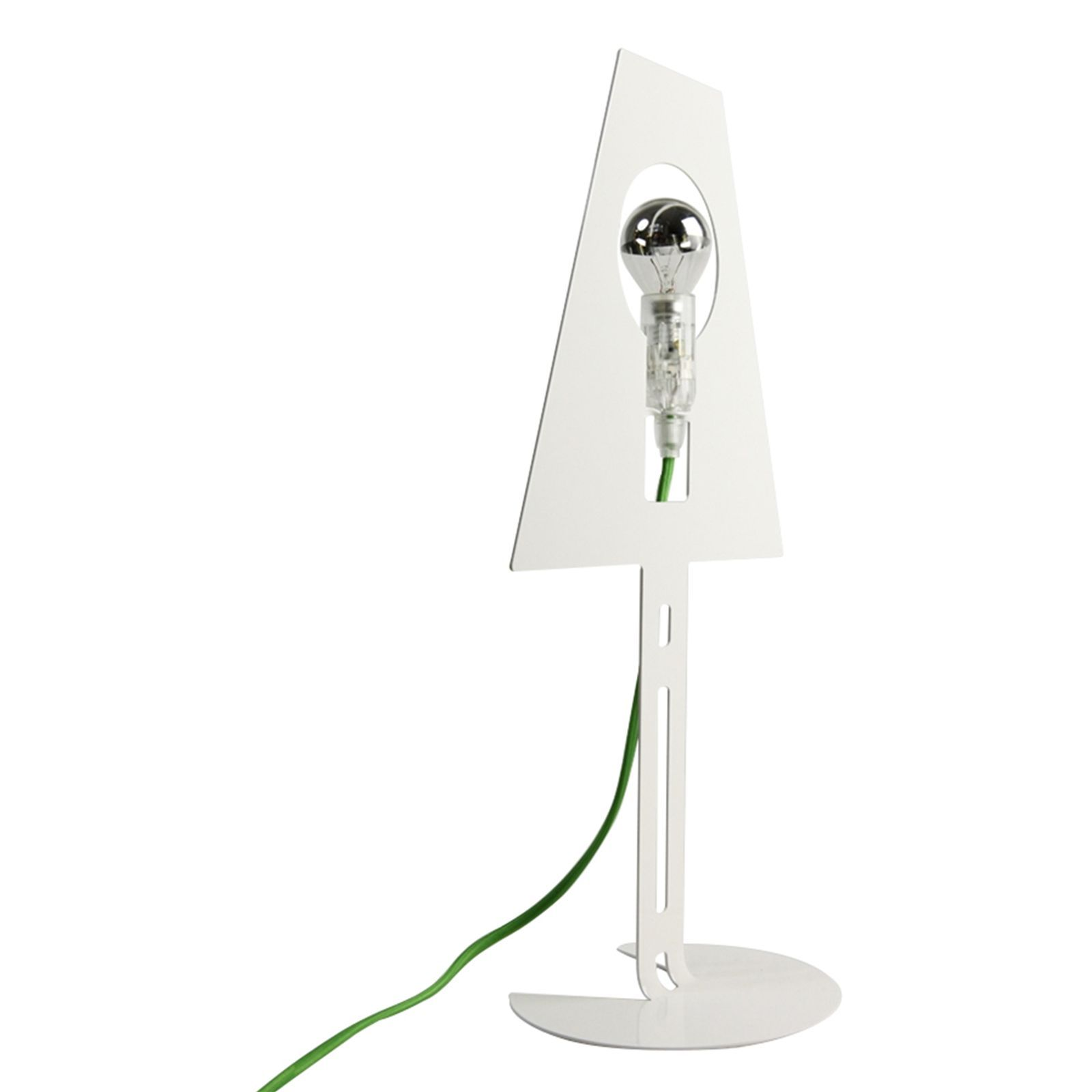 fenel et arno 2d 2plis lampe design blanche fil vert blanc brandalley. Black Bedroom Furniture Sets. Home Design Ideas
