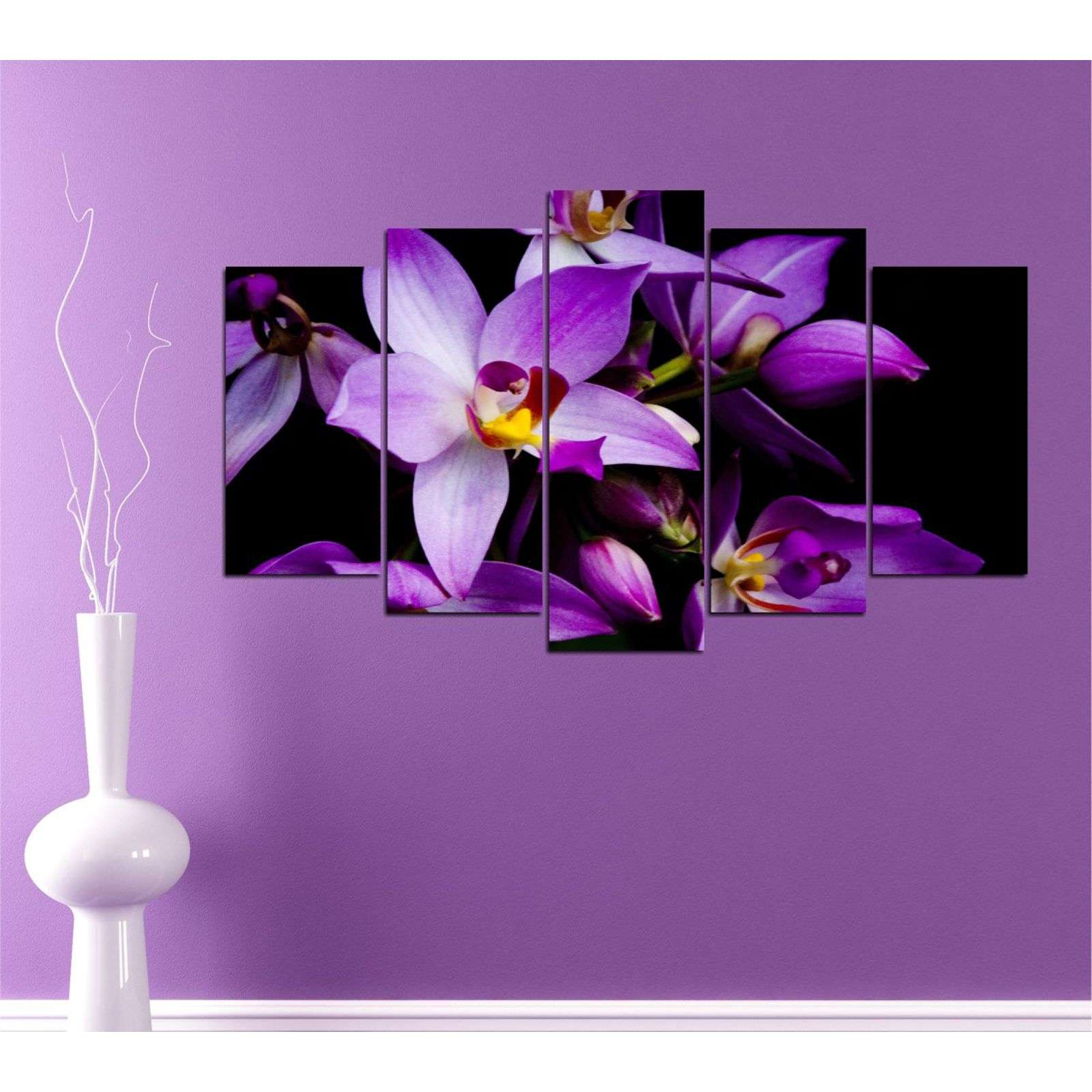 insigne fleurs d 39 orchid e 5 teiliges bild violett brandalley. Black Bedroom Furniture Sets. Home Design Ideas