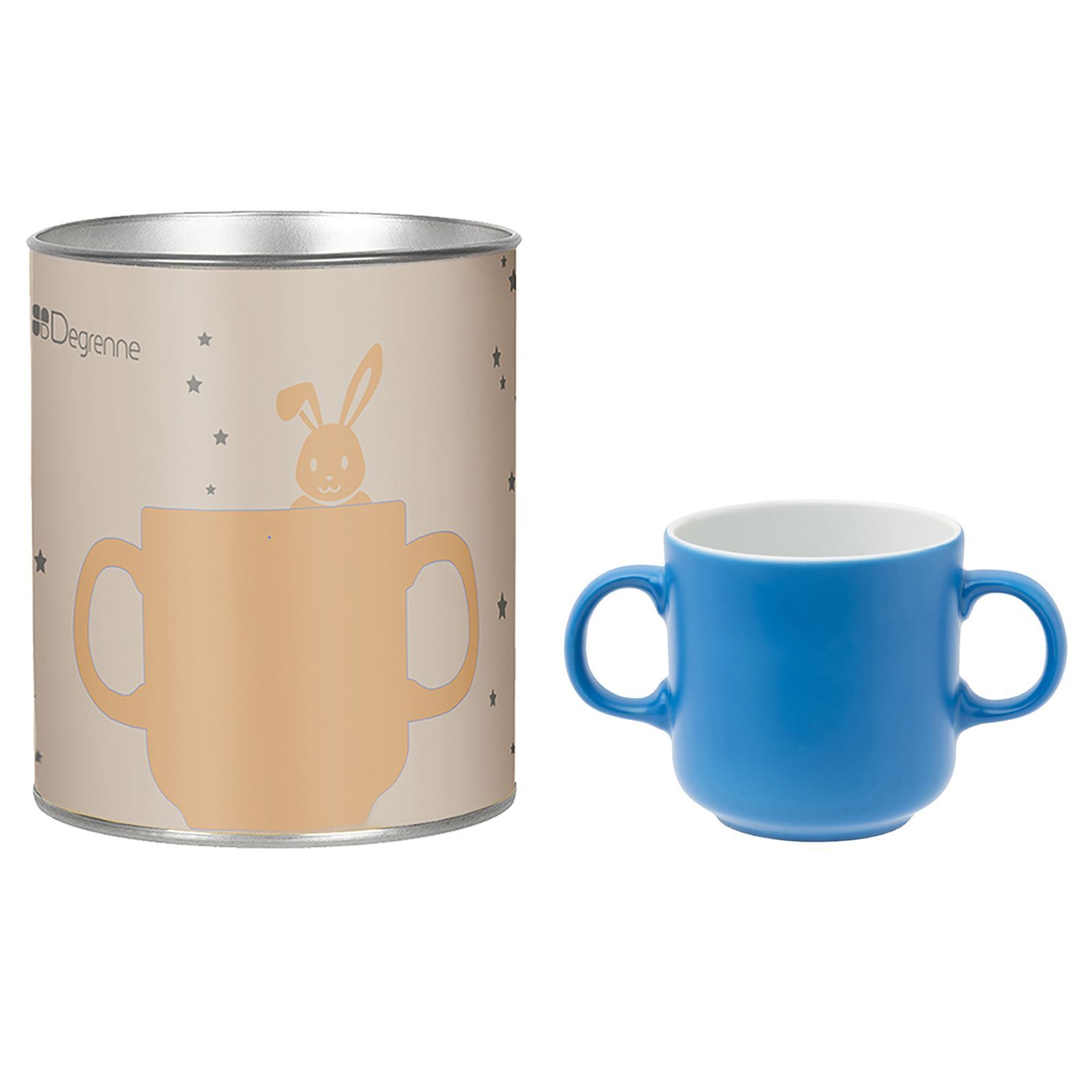 guy degrenne octave et sidonie bleu coffret tube mug 2 anses illusions bleu brandalley. Black Bedroom Furniture Sets. Home Design Ideas