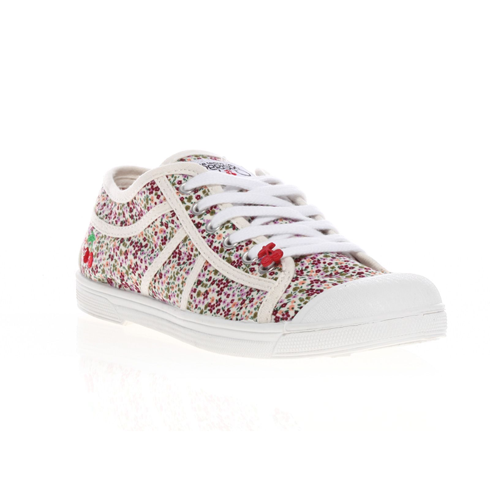 Le Temps des Cerises Basic 02 - Baskets Mode - blanc (liberty pink ... be2e6b05b70e