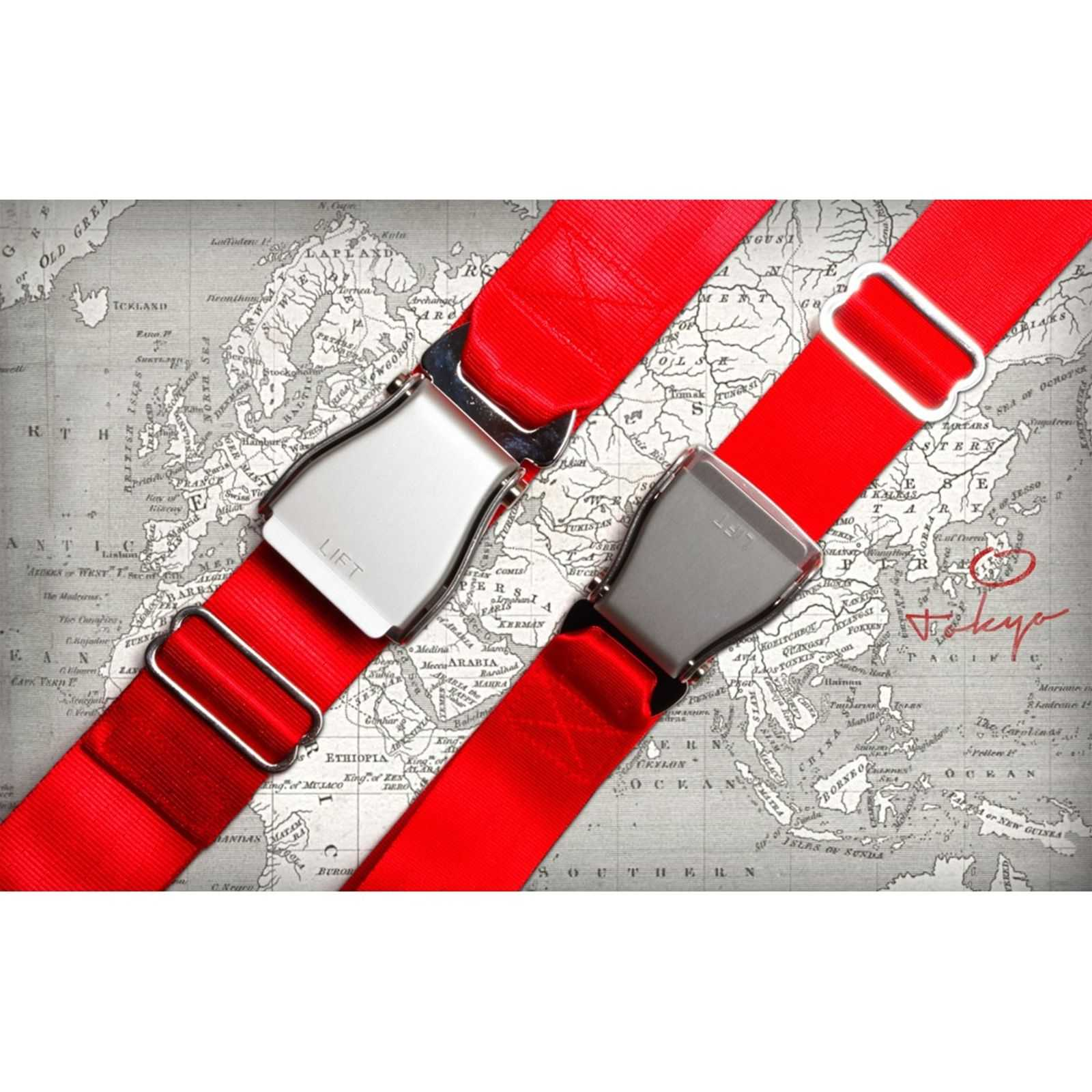 bbccbaf897d2 Fly Belts Ceinture d Avion - Ceinture - rouge   BrandAlley