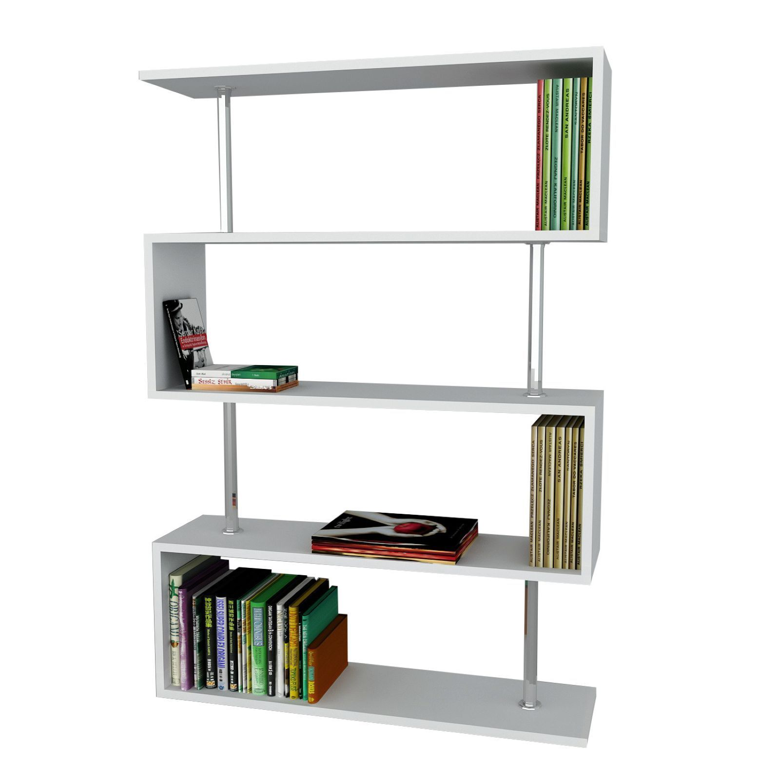 Wooden art tag re livres blanc brandalley - Etagere a livre ...