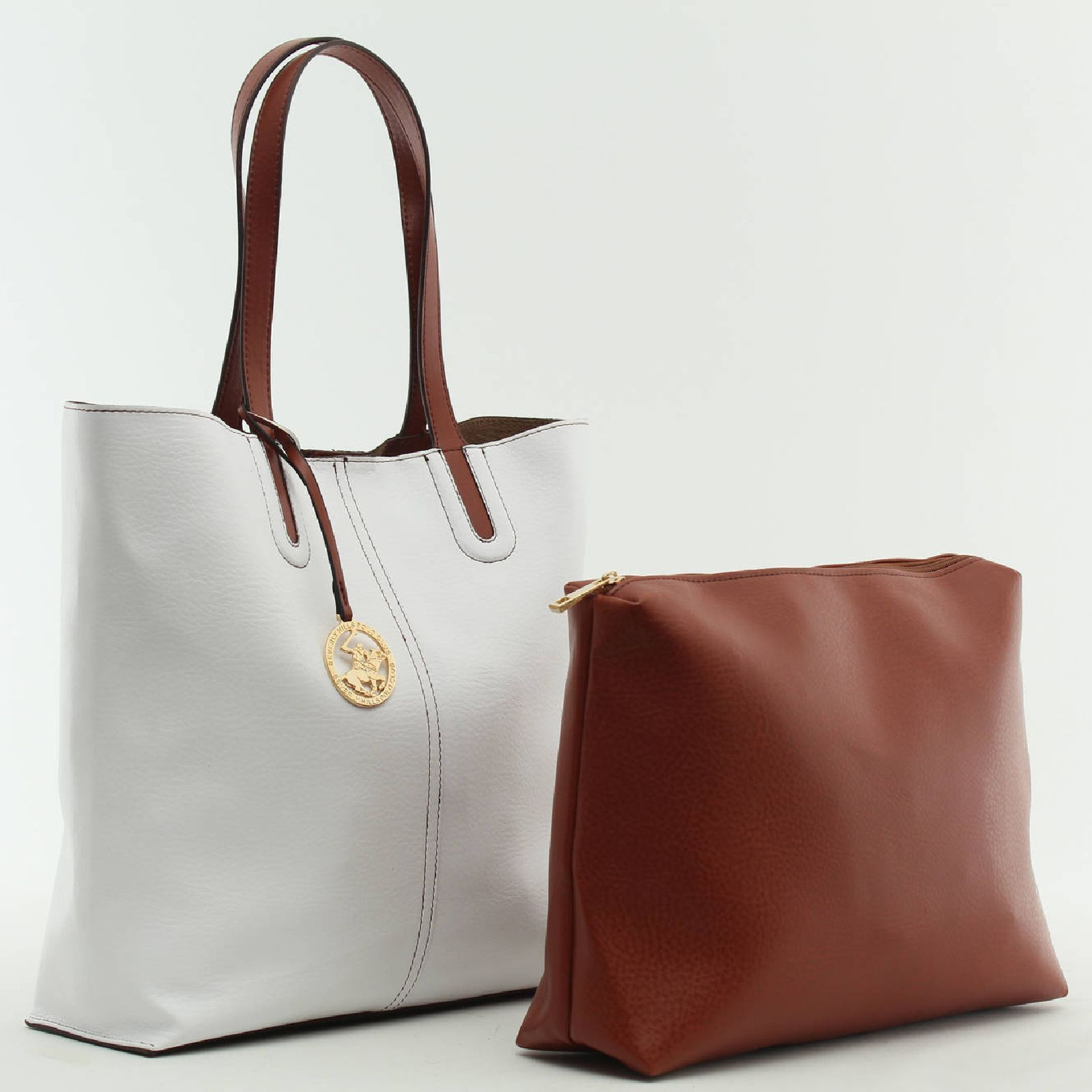 Exceptionnel Beverly Hills Polo Club Sac cabas avec pochette amovible - blanc  JS79