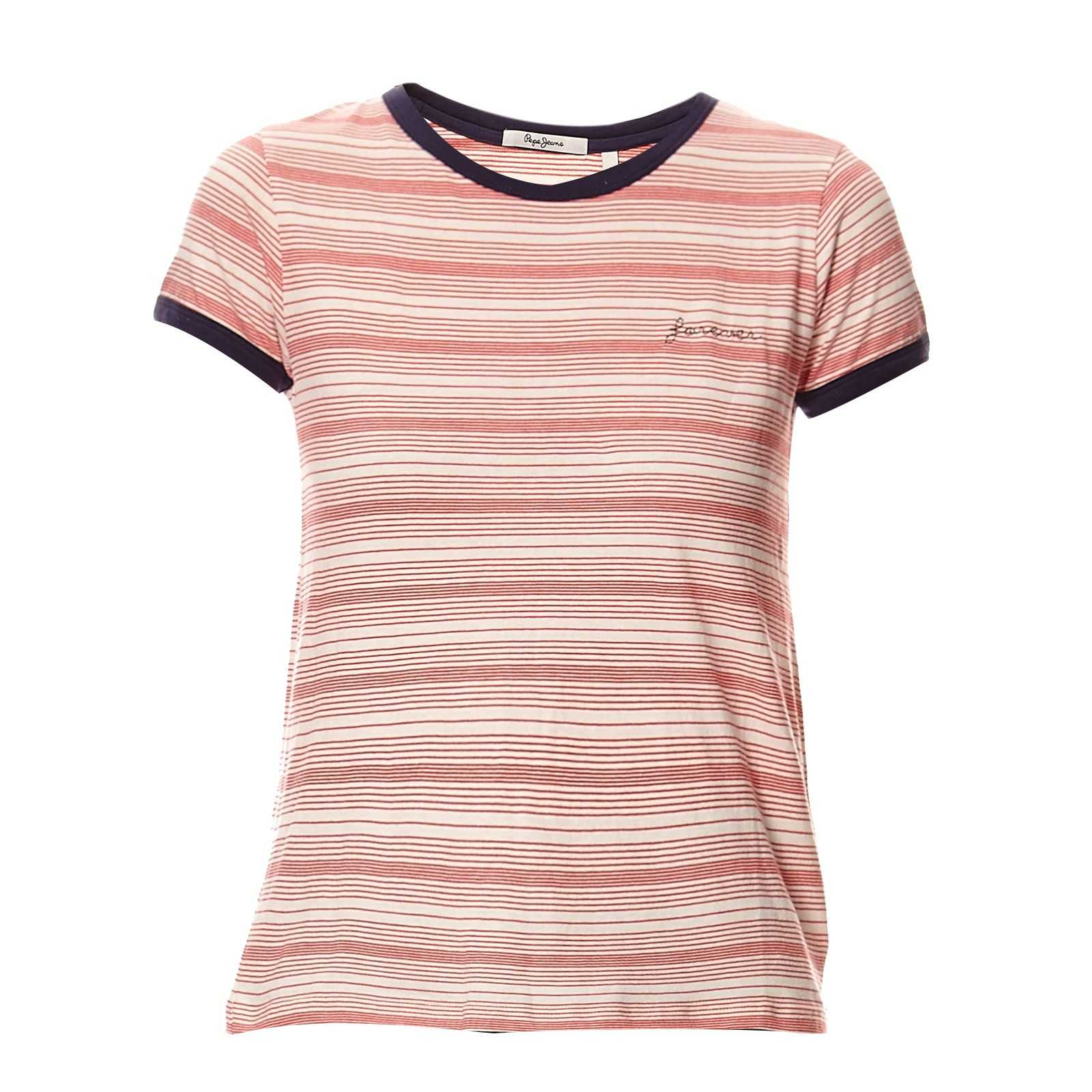 Pepe Jeans London Donna - T-shirt - rouge