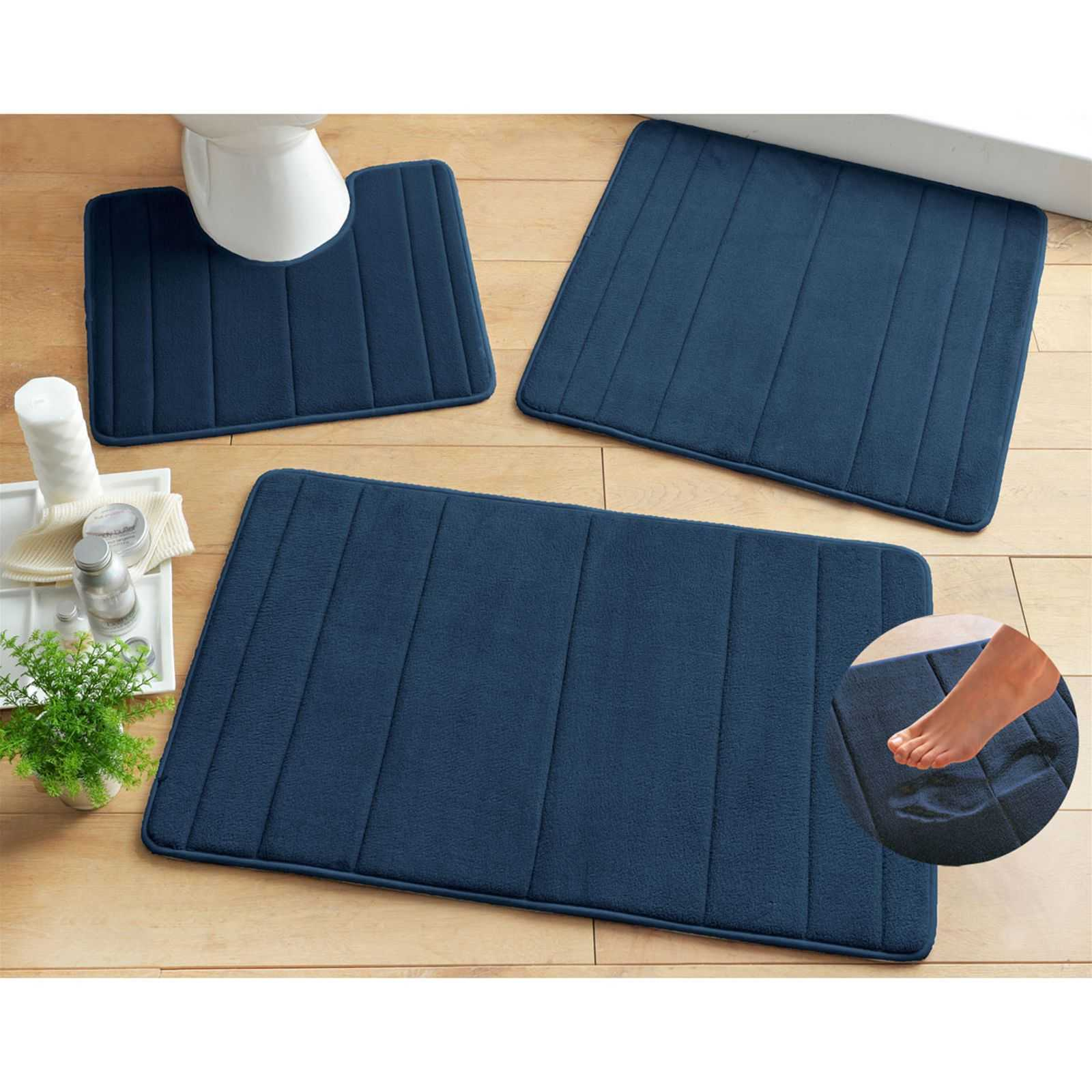 becquet tapis de bain 1200 g m bleu marine brandalley. Black Bedroom Furniture Sets. Home Design Ideas