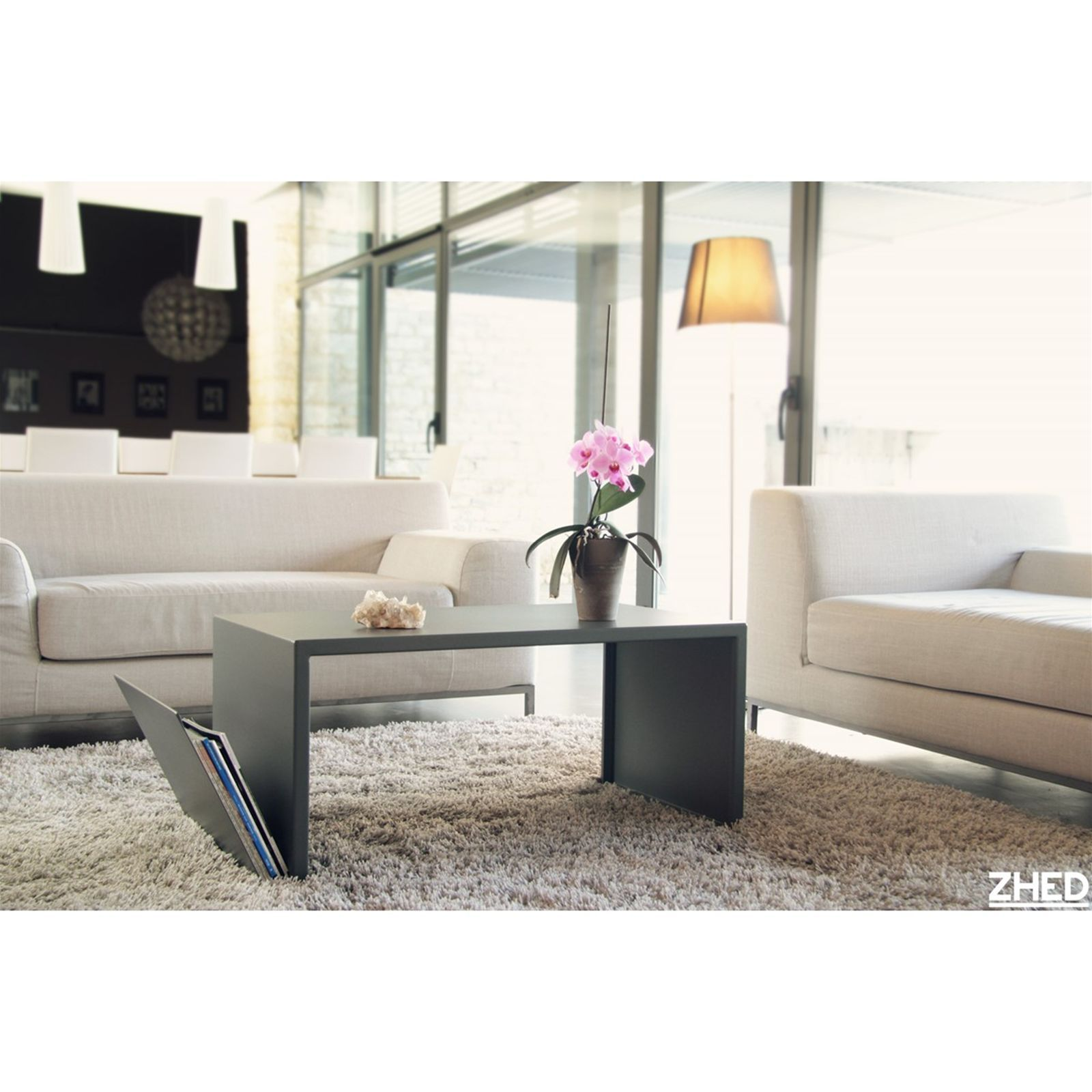 Zhed Spirix Table Basse Blanc Casse Brandalley