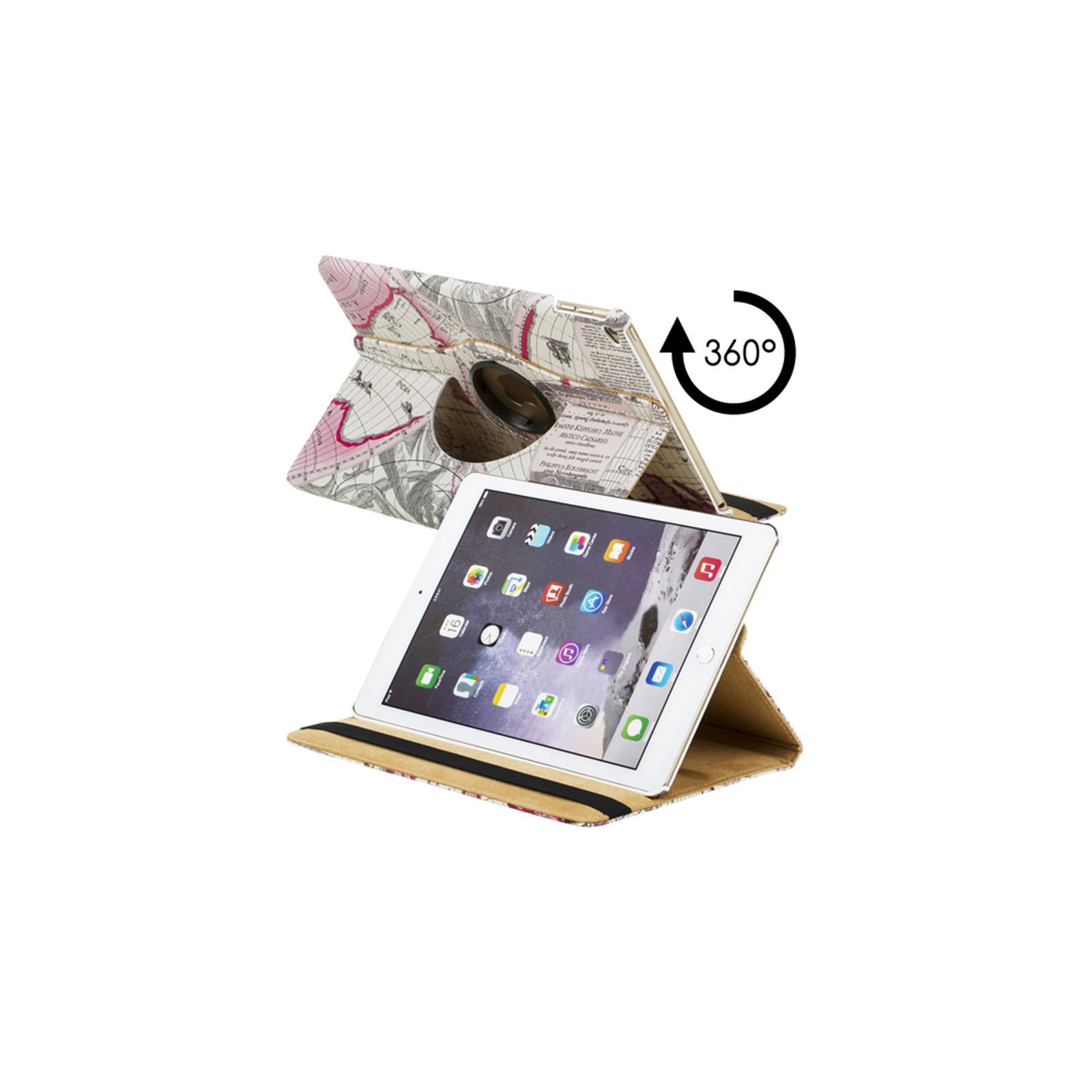 inkasus by idiffusion etui pour ipad air 2 rose brandalley. Black Bedroom Furniture Sets. Home Design Ideas