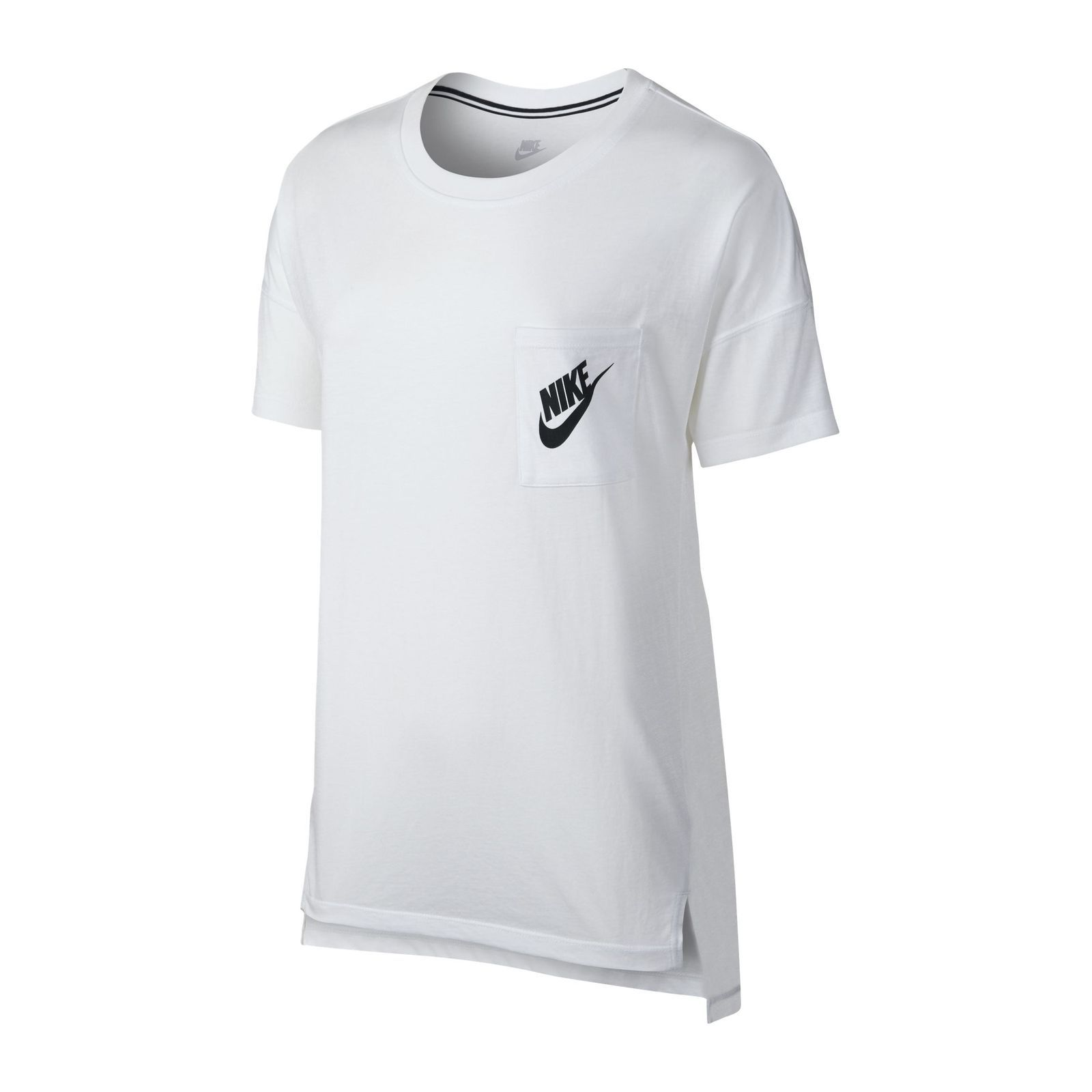 nike signal tee t shirt manches courtes blanc brandalley. Black Bedroom Furniture Sets. Home Design Ideas