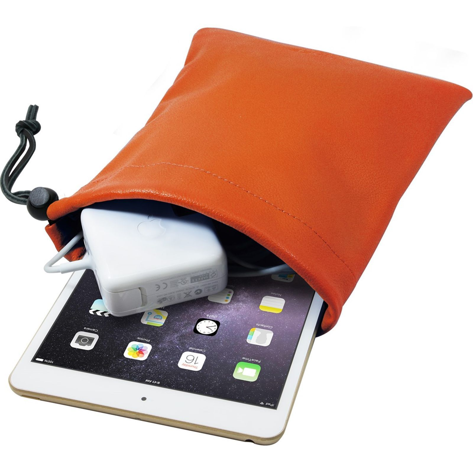 Ipad Pochette Cuir Orange Pour The Kase En Mini wTxX6