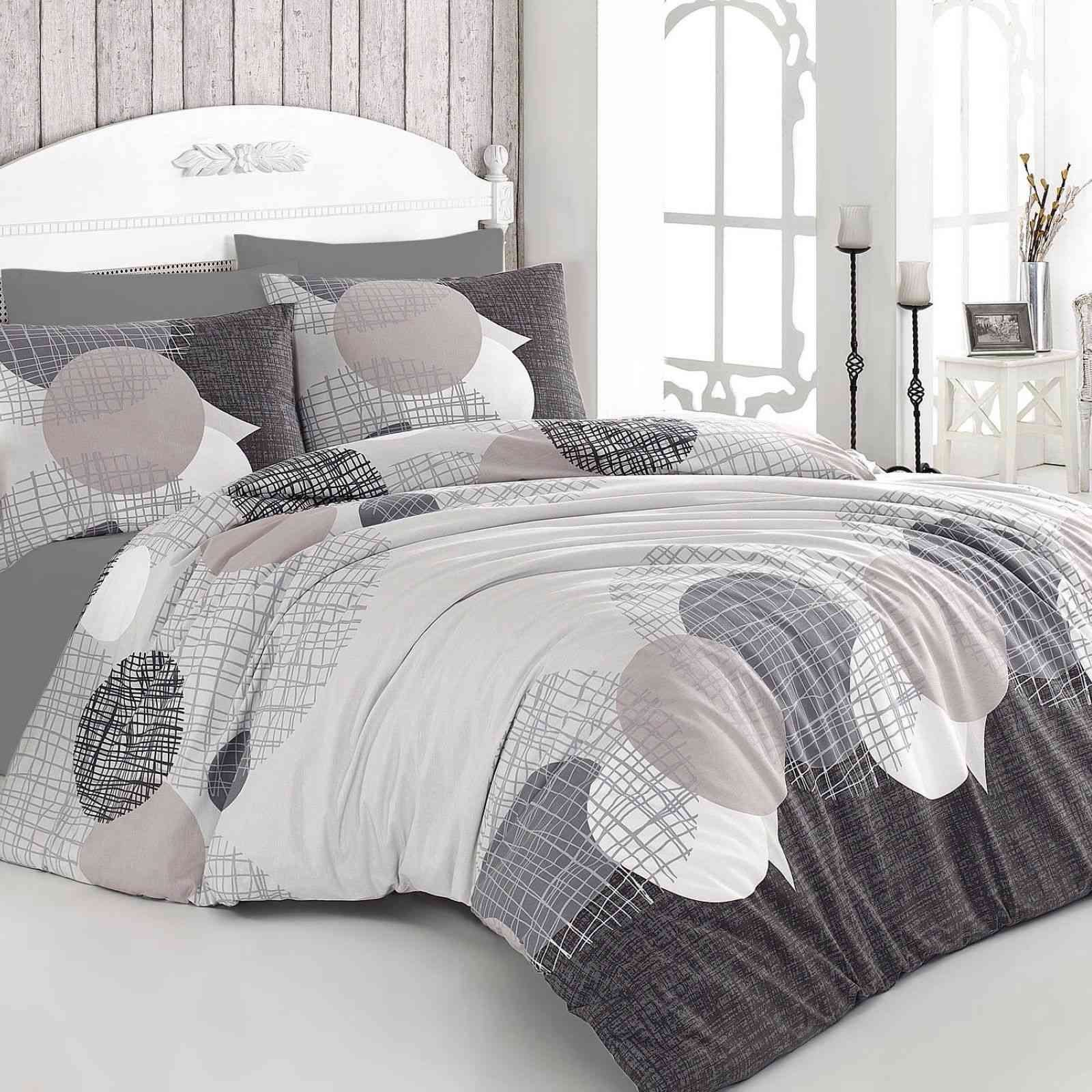 nazenin home jadore parure de lit blanc beige et gris brandalley. Black Bedroom Furniture Sets. Home Design Ideas