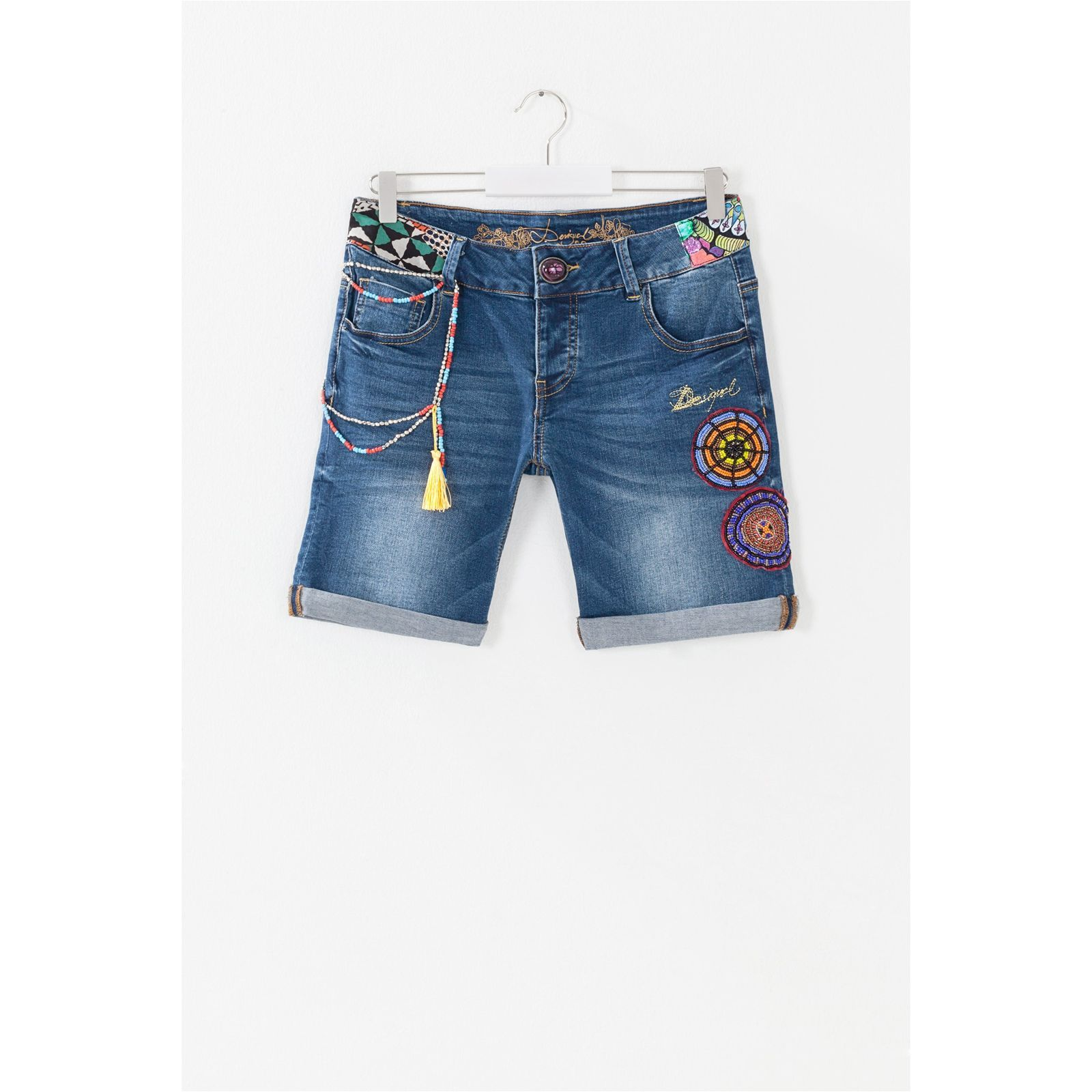 discount shop another chance buy online bermuda femme desigual,Desigual Short en jean Centauri femme ...