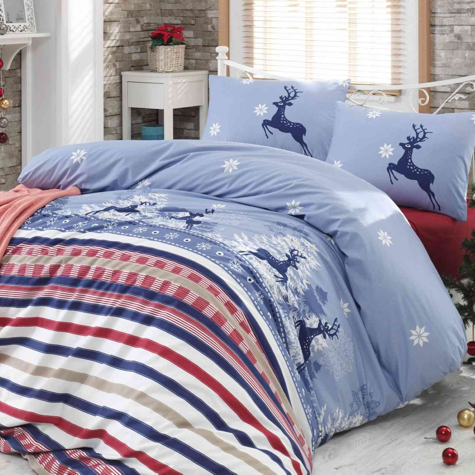 en vogue blue christmas parure de lit bleu brandalley. Black Bedroom Furniture Sets. Home Design Ideas