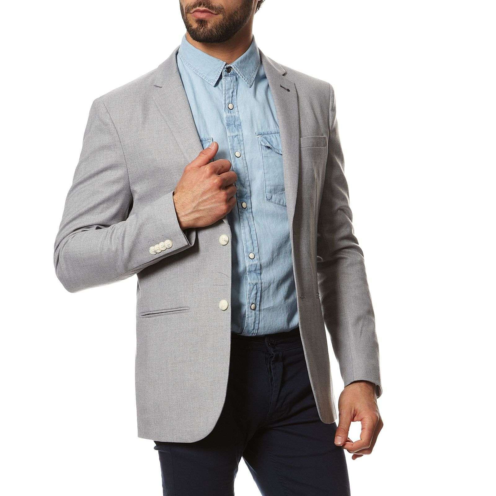 Jack  Jones Blazer - gris clair