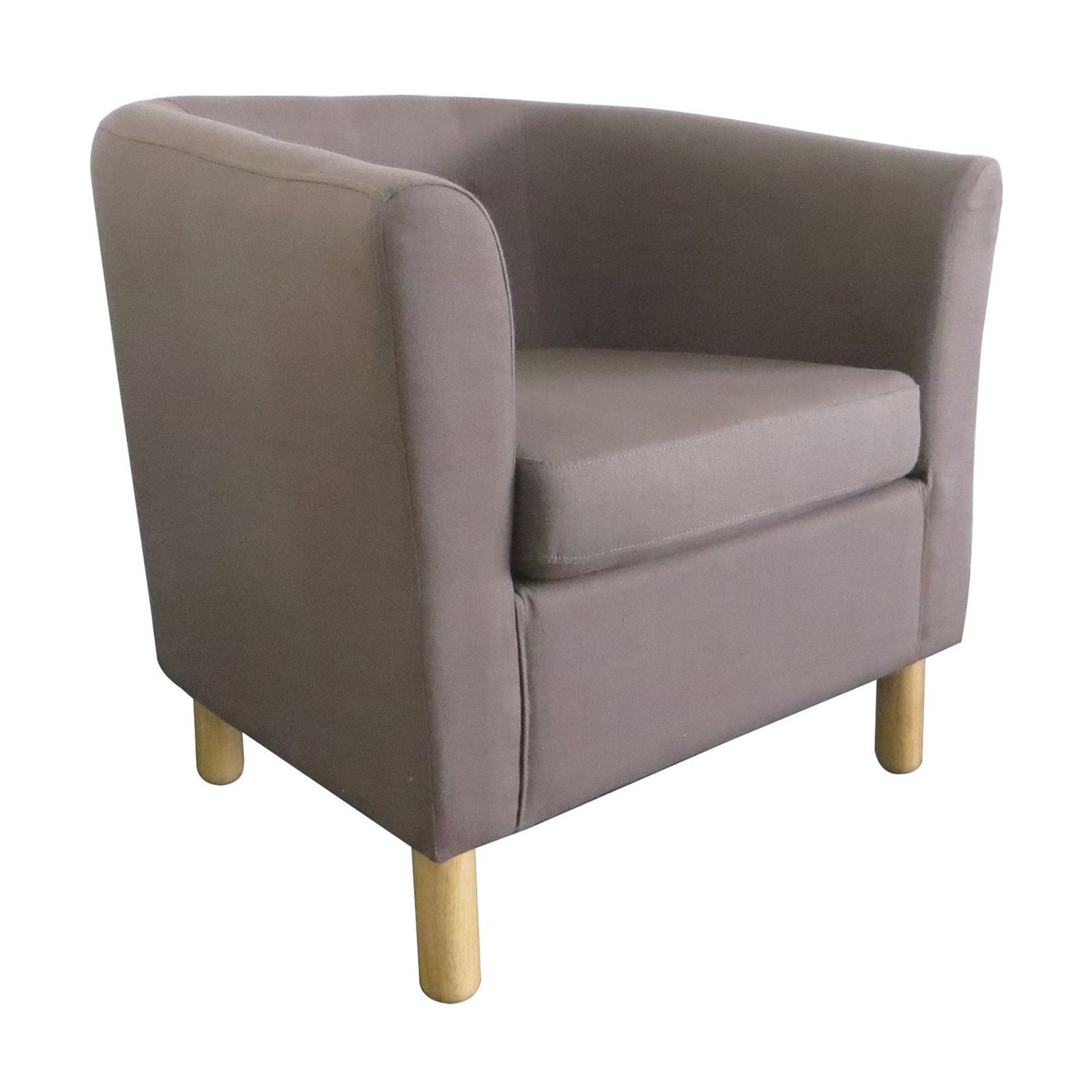 Potiron charme fauteuil club taupe brandalley - Fauteuil potiron soldes ...