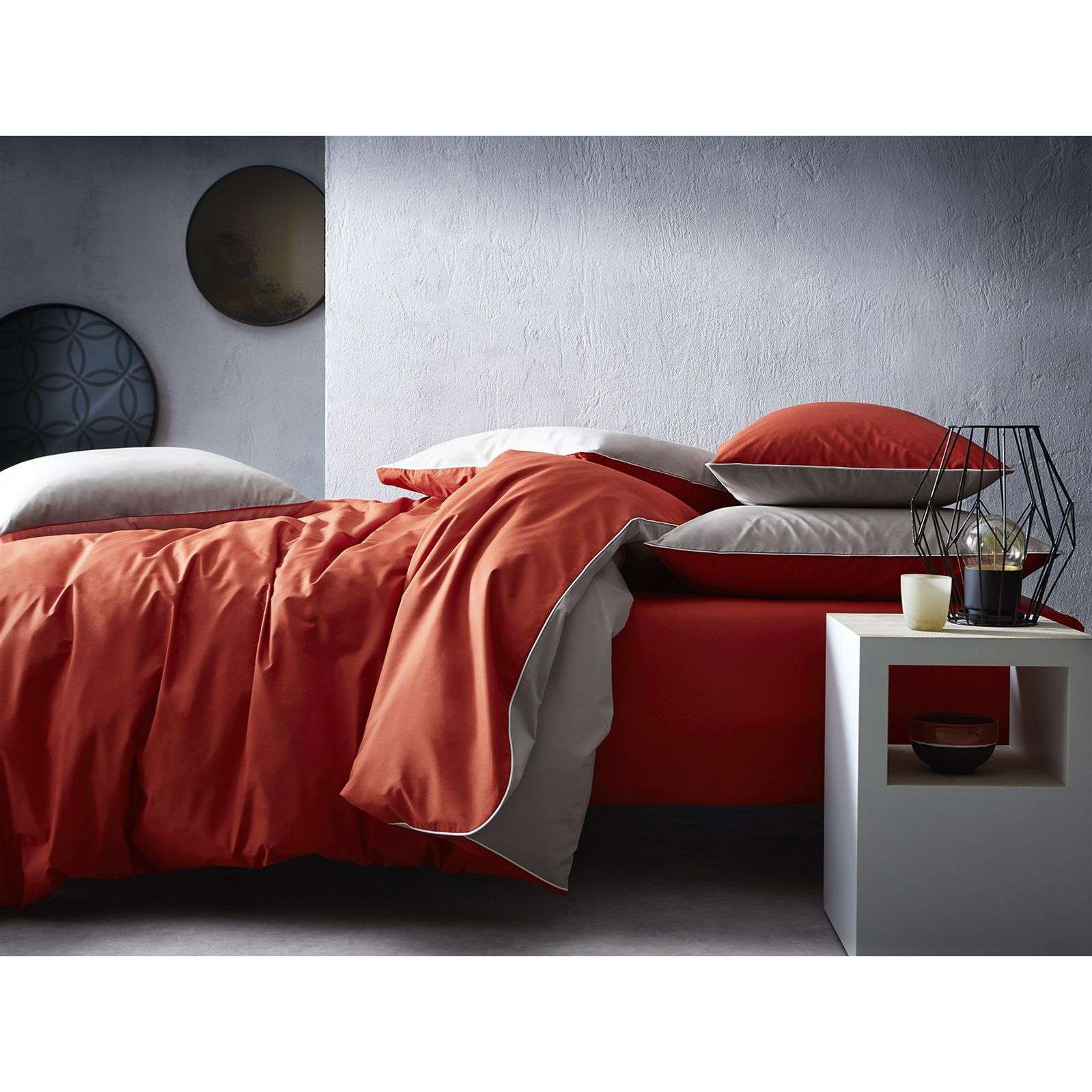 blanc cerise complicite gourmande housse de couette percale 80 fils cm complicite. Black Bedroom Furniture Sets. Home Design Ideas