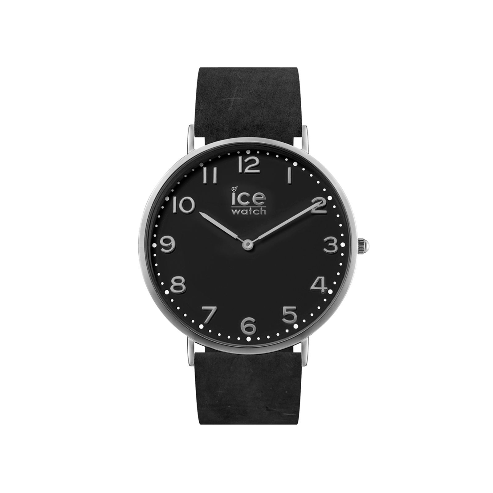 ice watch montre bracelet en cuir noir brandalley. Black Bedroom Furniture Sets. Home Design Ideas