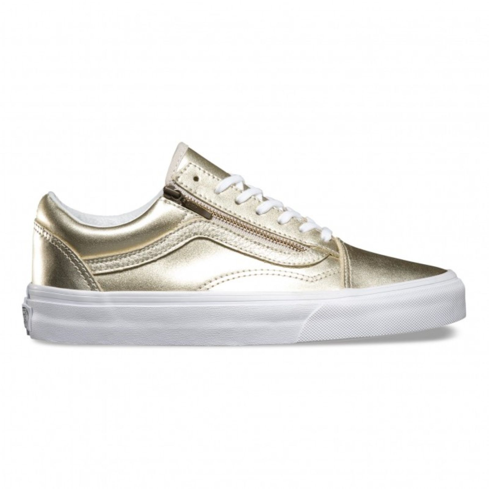 vans old skool cuir beige