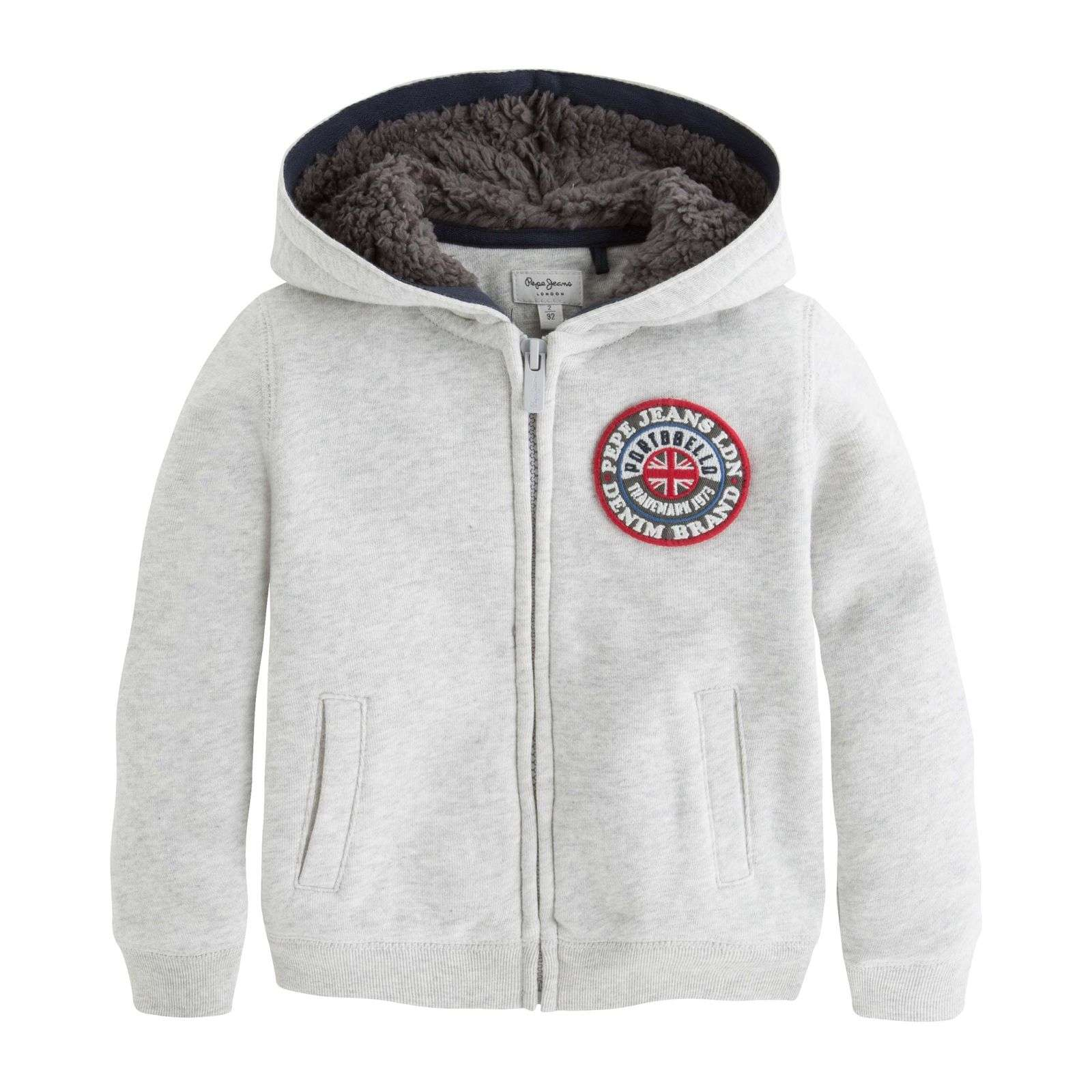 Pepe Jeans London MAXWELL - Sweat à capuche - gris chine