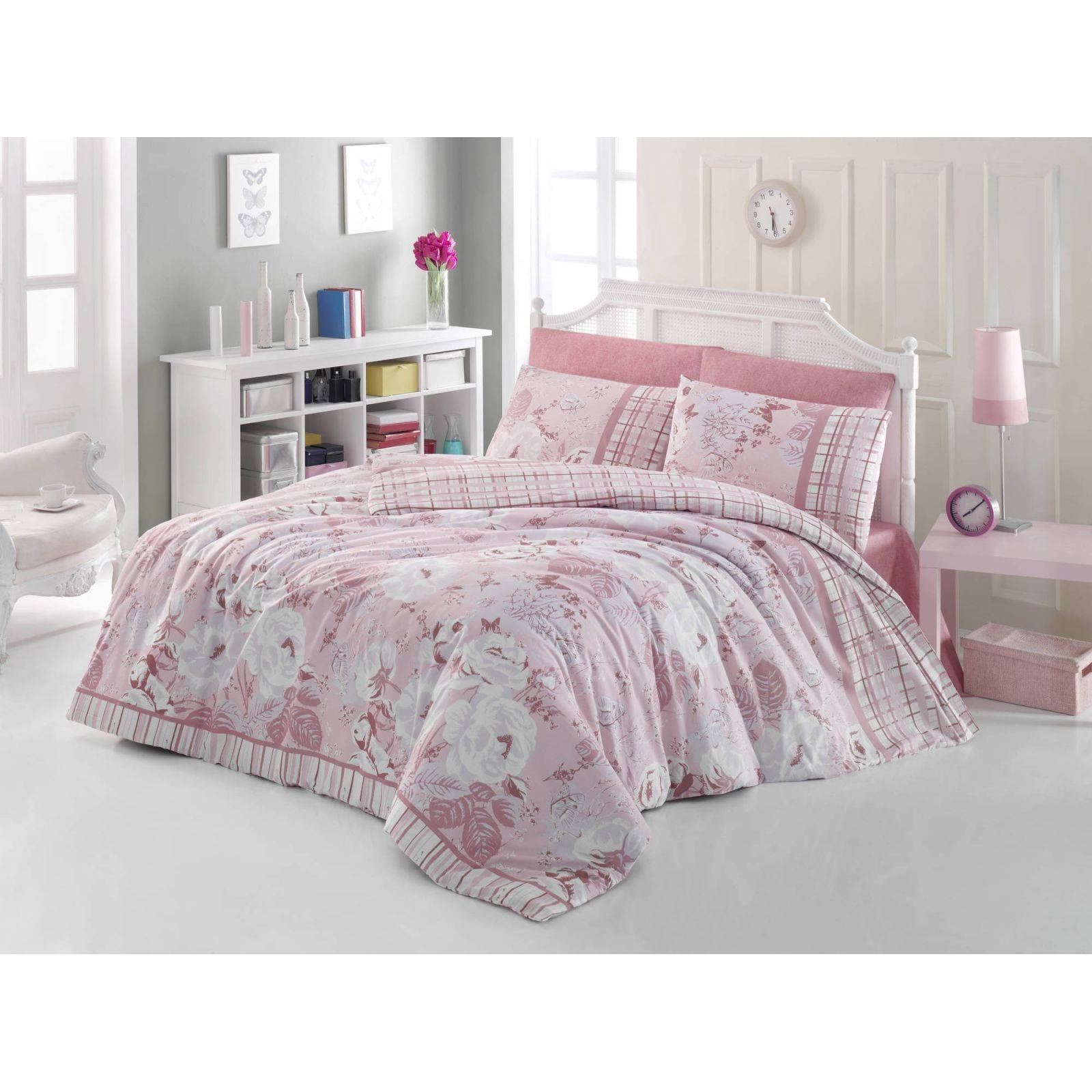 en vogue parure de lit rose clair brandalley. Black Bedroom Furniture Sets. Home Design Ideas