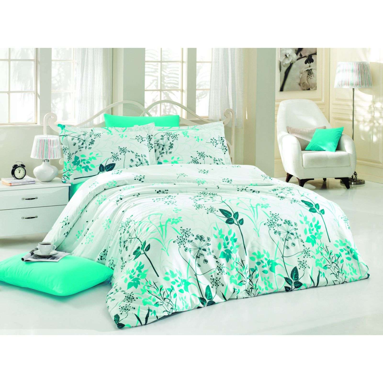 nazenin parure de lit turquoise brandalley. Black Bedroom Furniture Sets. Home Design Ideas
