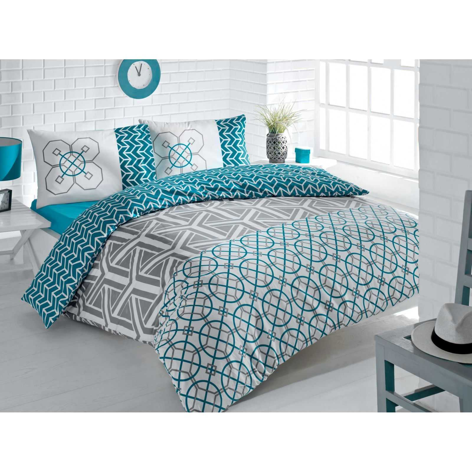 victoria home parure de lit turquoise brandalley. Black Bedroom Furniture Sets. Home Design Ideas