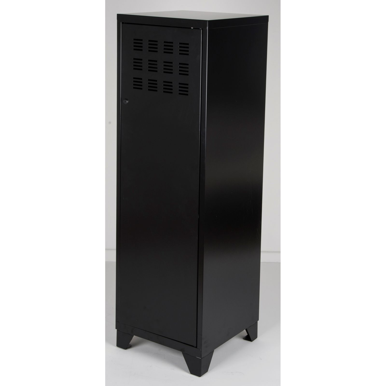 pierre henry armoire 1 porte noir brandalley. Black Bedroom Furniture Sets. Home Design Ideas