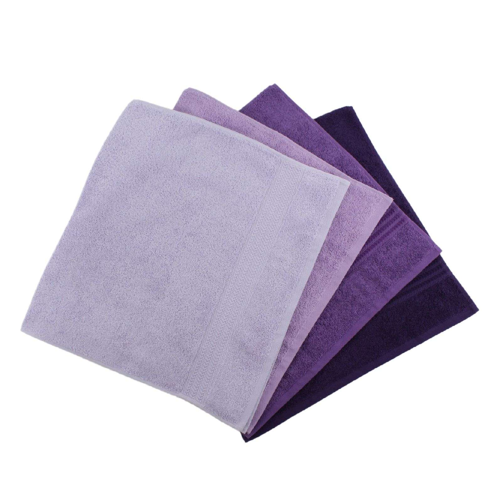 home sweet home lot de 4 serviettes de bain 500 g m. Black Bedroom Furniture Sets. Home Design Ideas