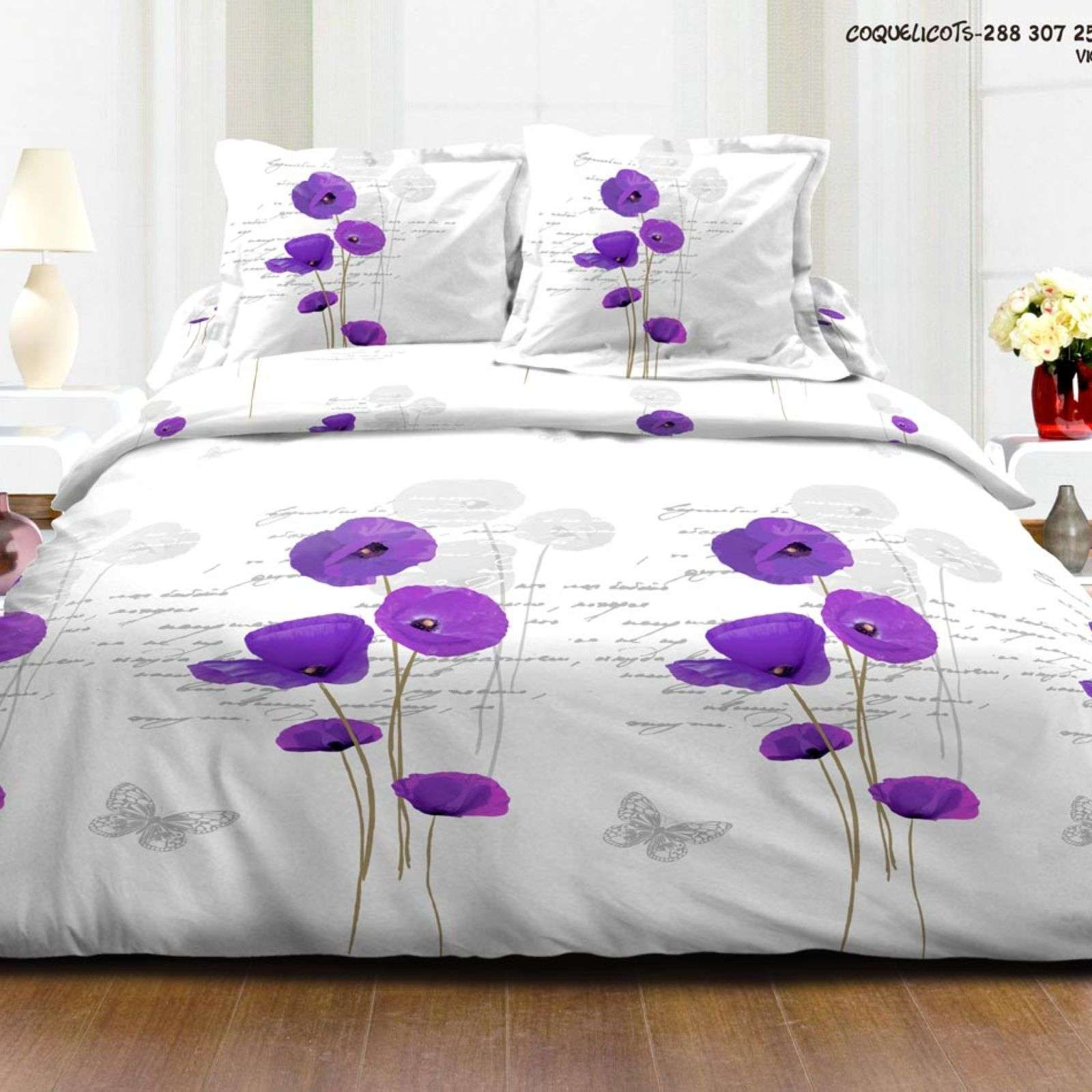 My home coquelicots violet brandalley for Violet home