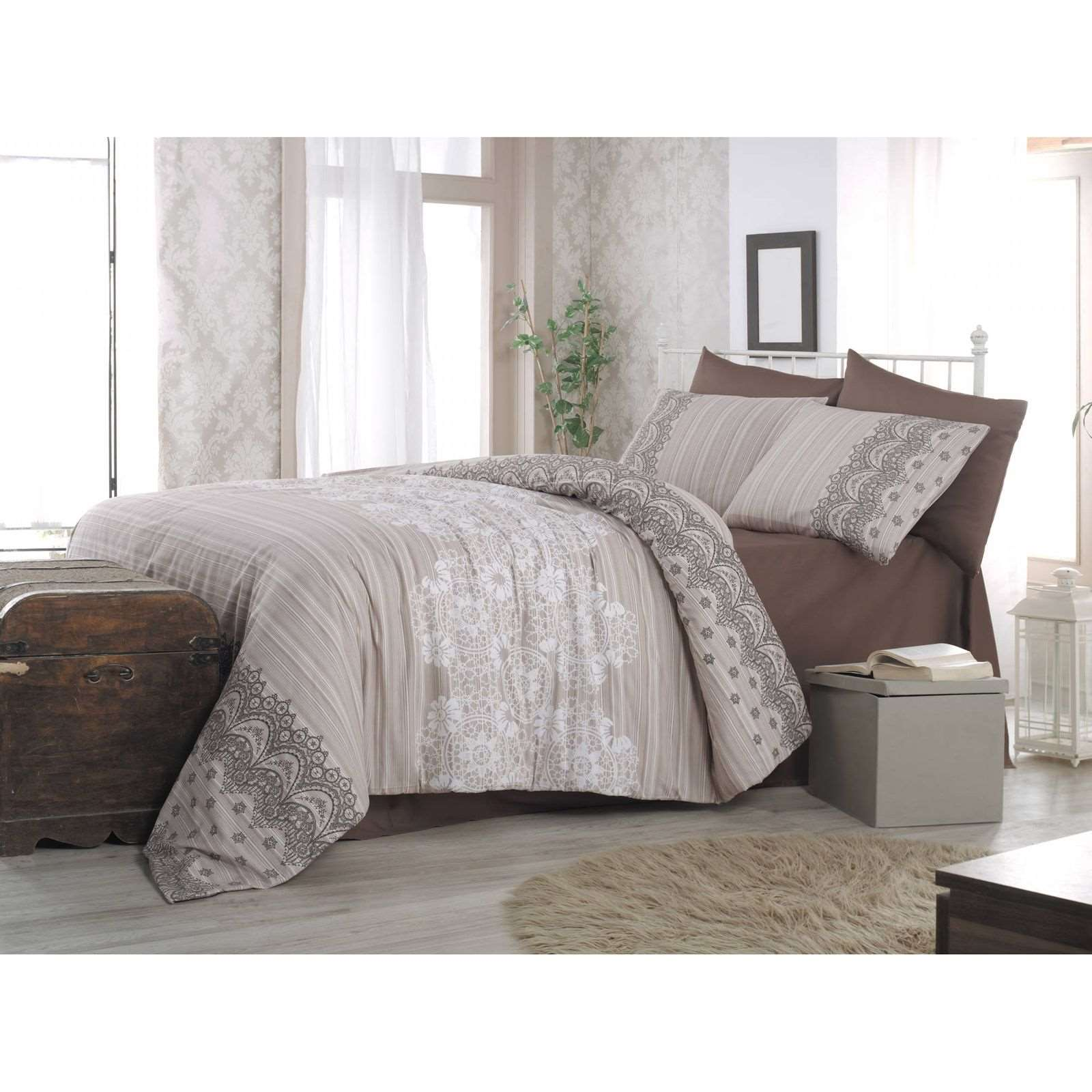 victoria home parure de lit beige brandalley. Black Bedroom Furniture Sets. Home Design Ideas