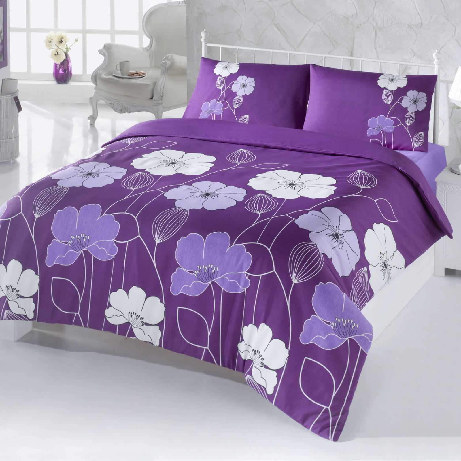 en vogue parure de lit violet brandalley. Black Bedroom Furniture Sets. Home Design Ideas