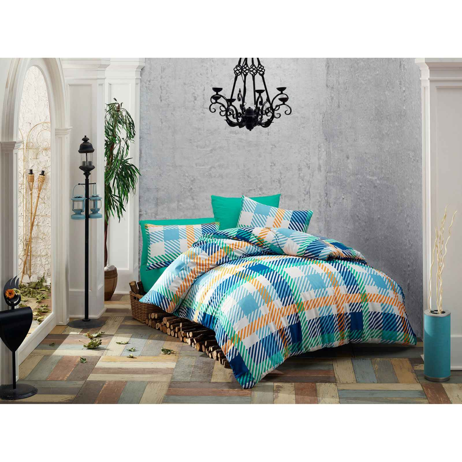en vogue parure de lit turquoise brandalley. Black Bedroom Furniture Sets. Home Design Ideas