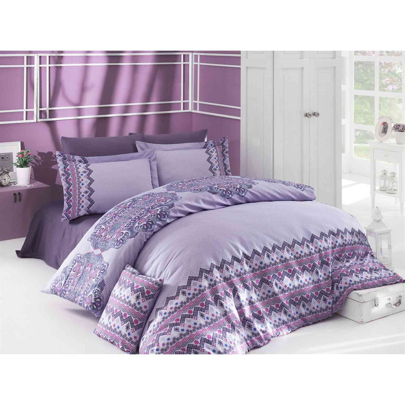 en vogue parure de lit mauve brandalley. Black Bedroom Furniture Sets. Home Design Ideas