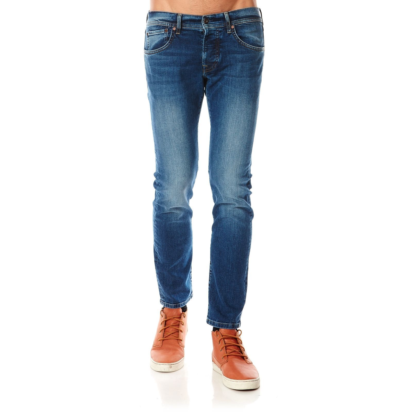 London Cane  Jean Slim  Denim Bleu