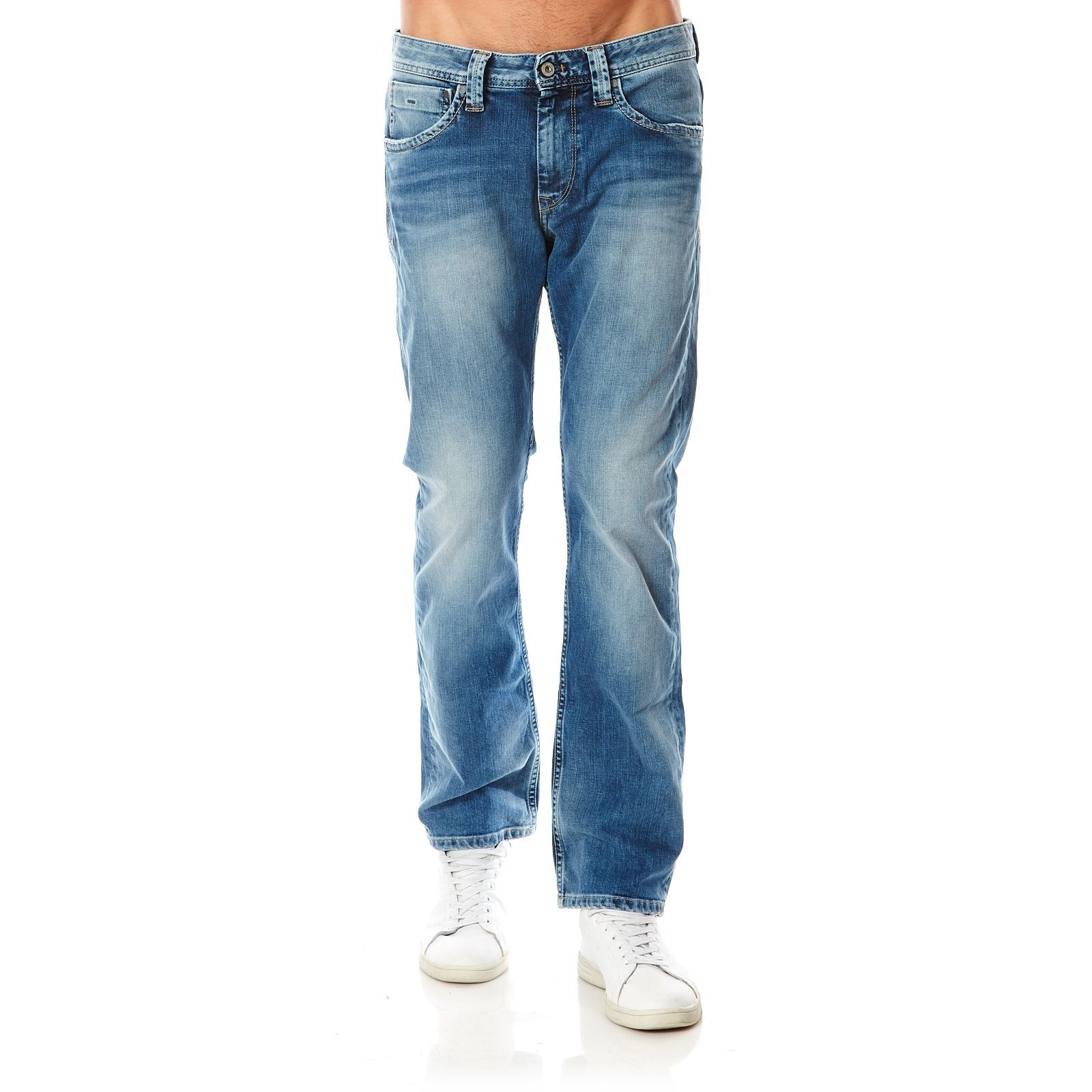 Pepe Jeans London Kingston Zip - Jean droit - denim bleu