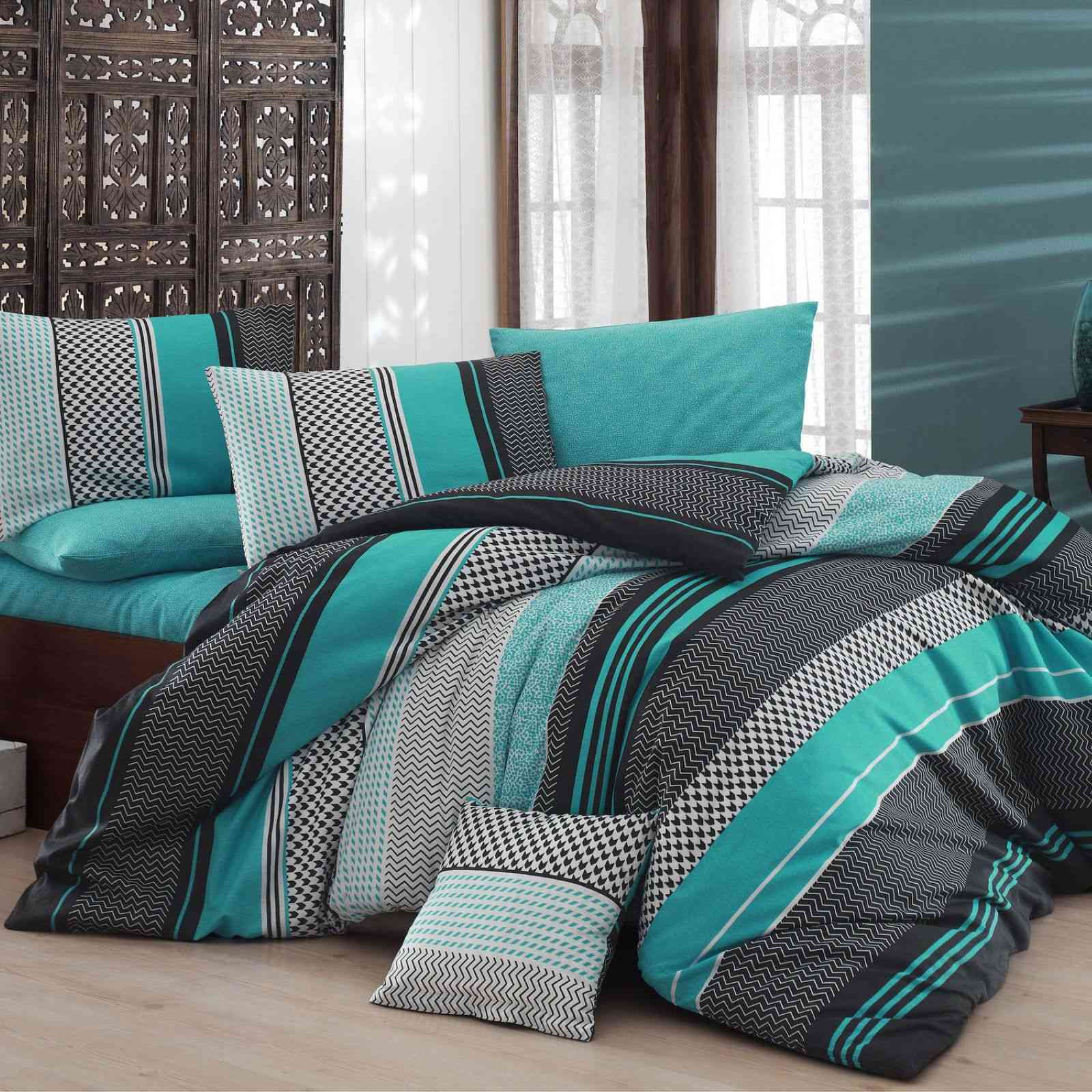 nazenin home parure de lit turquoise brandalley. Black Bedroom Furniture Sets. Home Design Ideas